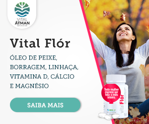 Vital Flór - óleo de peixe, borragem, linhaça, vitamina D, cálcio e magnésio